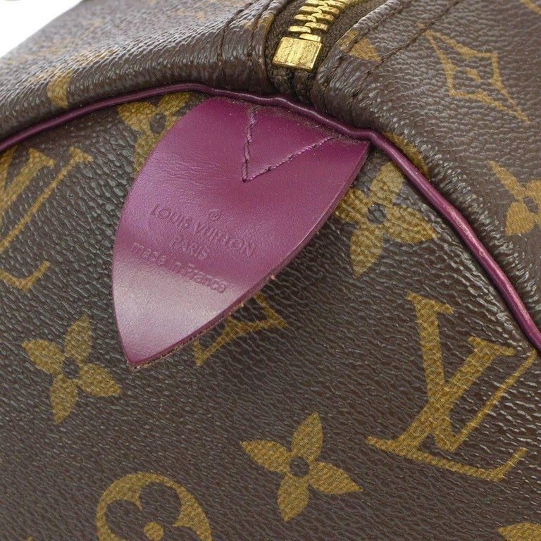Women's Louis Vuitton Limited Edition Monogram Top Handle Satchel Bag With Lock and Keys For Sale