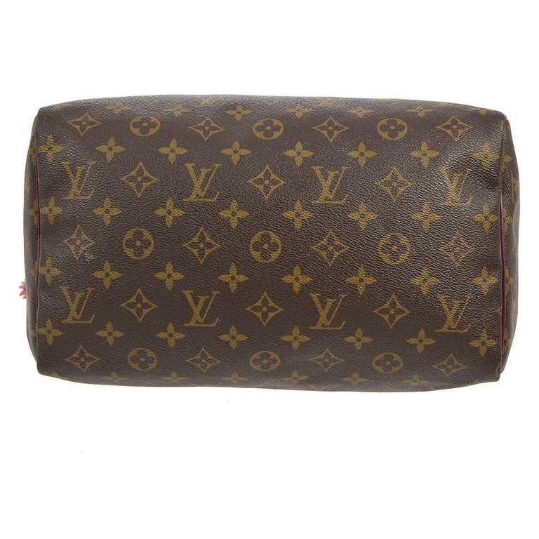 Louis Vuitton Limited Edition Monogram Top Handle Satchel Bag With Lock and Keys For Sale 1