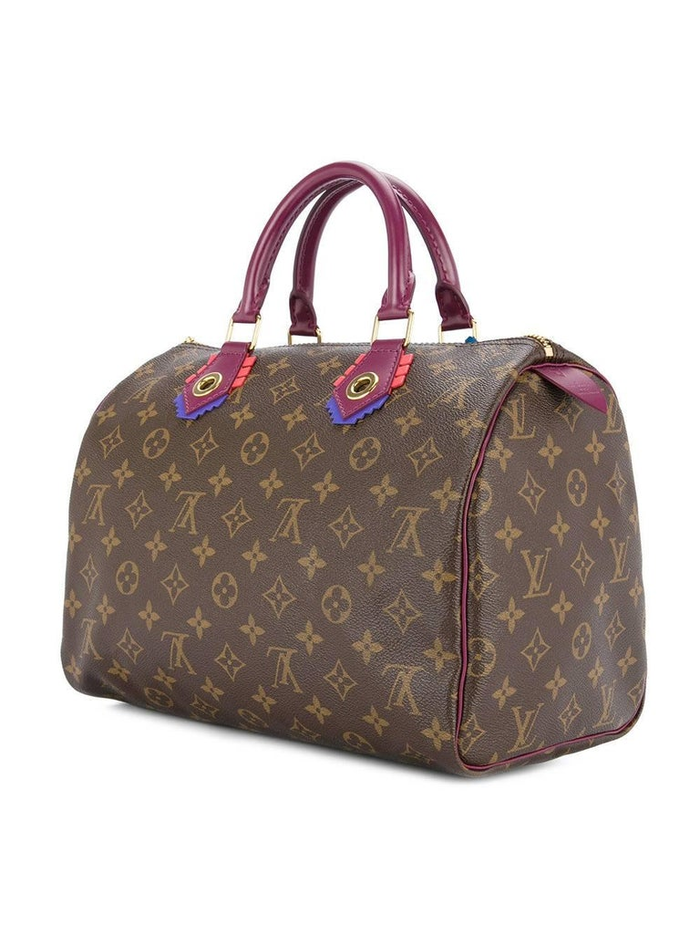 Louis Vuitton Limited Edition Monogram Top Handle Satchel Bag With Lock and Keys For Sale 2