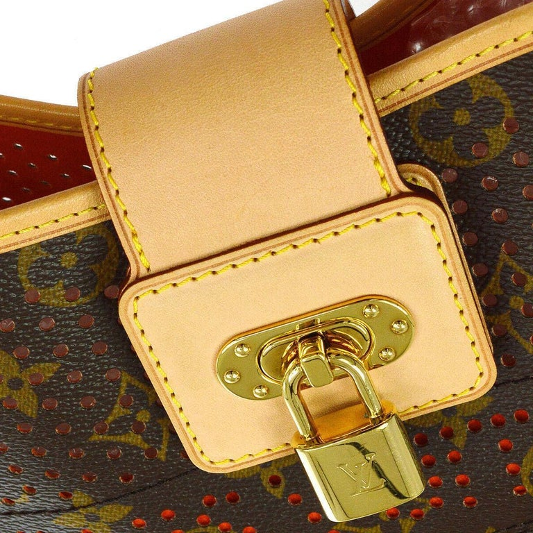 Louis Vuitton Limited Edition Monogram Top Handle Satchel Shoulder Bag in Box   Monogram canvas Leather  Gold tone hardware Date code present Made in France Shoulder strap drop 11-12.5