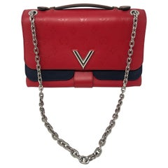 Louis Vuitton Limited Edition Red and Navy Crossbody Bag