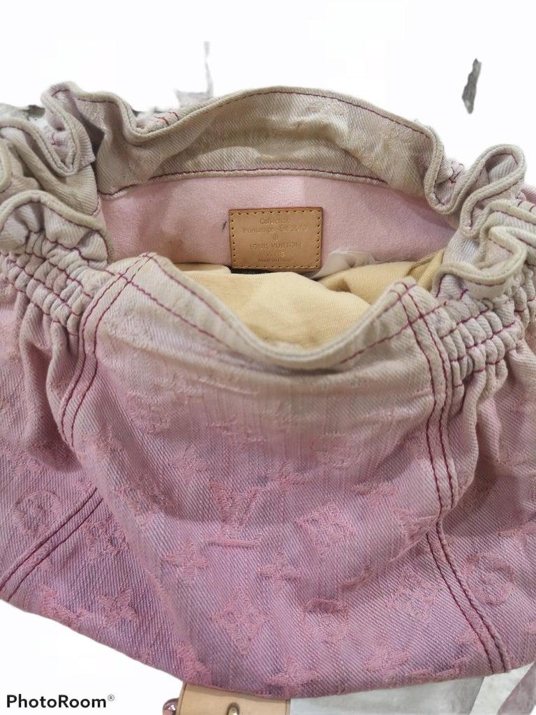 Louis Vuitton Limited Edition Rose Purple Monogram Denim Sunshine Bag In Excellent Condition For Sale In Capri, IT