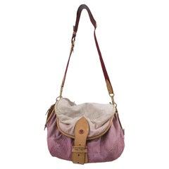 Louis Vuitton Limited Edition Rose Purple Monogram Denim Sunshine Bag