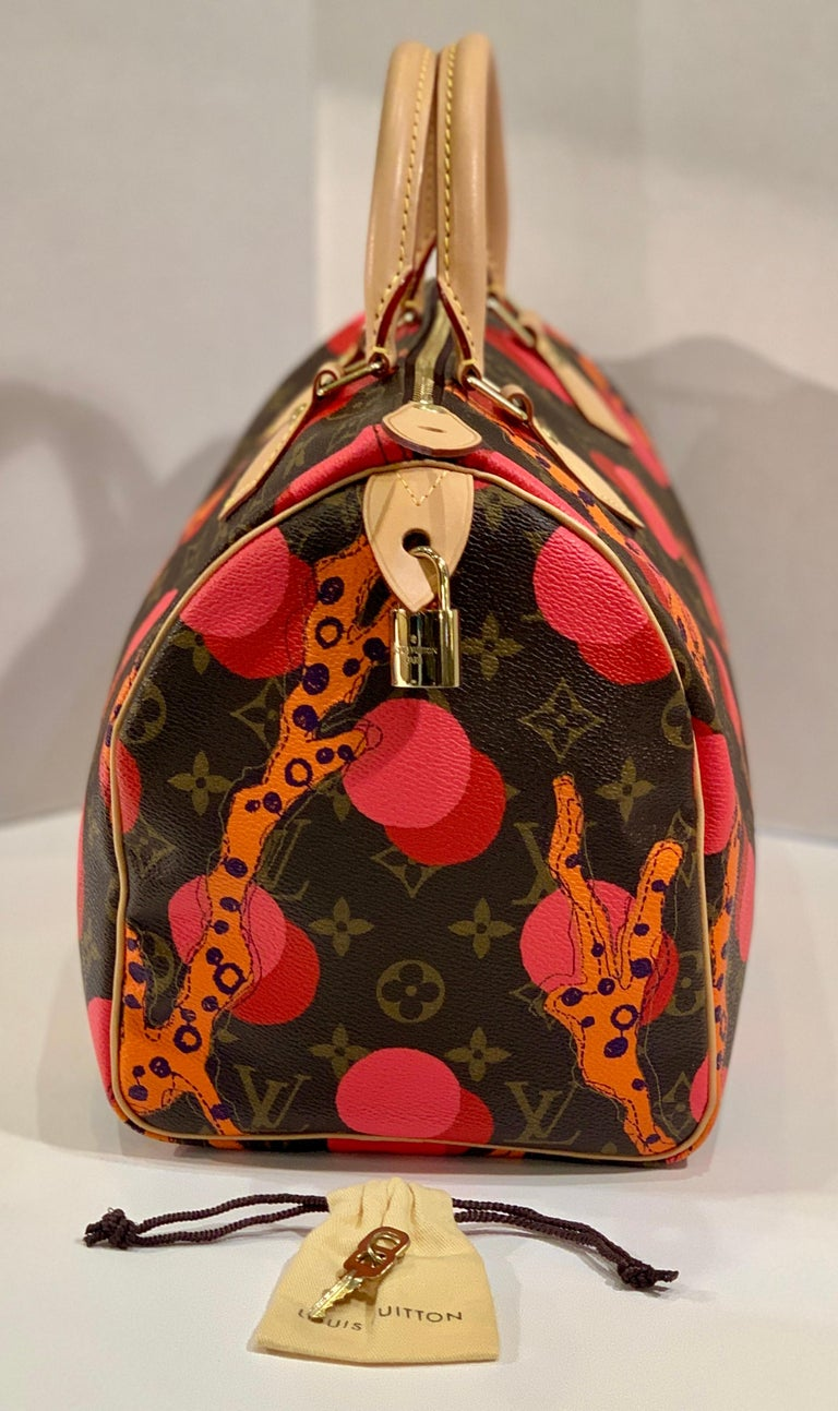 Louis Vuitton Limited Edition Speedy 30 Grenade Ramages Monogram Canvas Purse For Sale 6