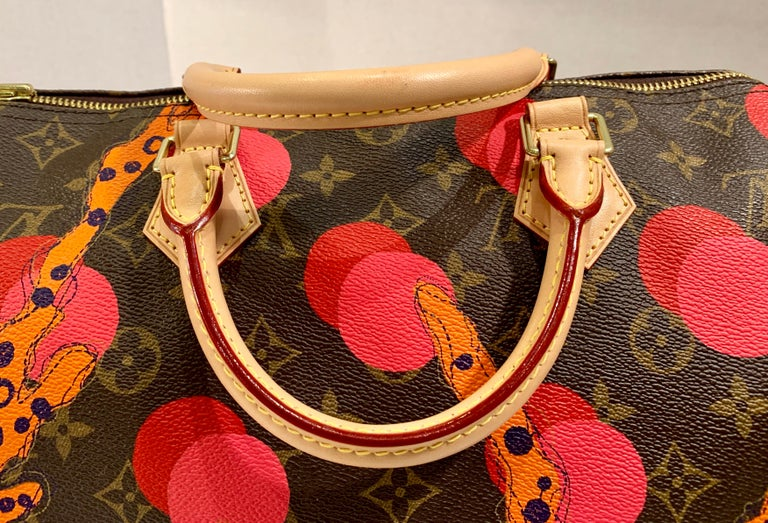 Louis Vuitton Limited Edition Speedy 30 Grenade Ramages Monogram Canvas Purse For Sale 9
