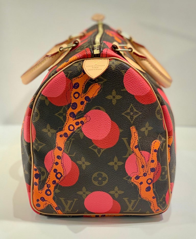 Brown Louis Vuitton Limited Edition Speedy 30 Grenade Ramages Monogram Canvas Purse For Sale