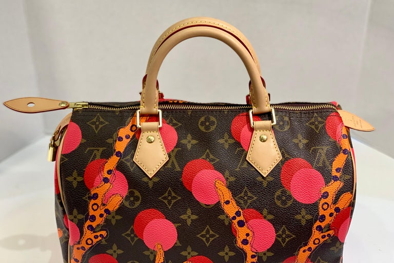 Louis Vuitton Limited Edition Speedy 30 Grenade Ramages Monogram Canvas Purse In Excellent Condition For Sale In Tustin, CA