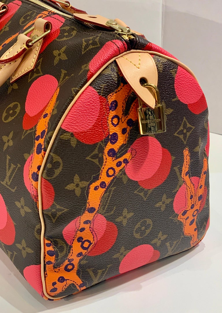 Louis Vuitton Limited Edition Speedy 30 Grenade Ramages Monogram Canvas Purse For Sale 2