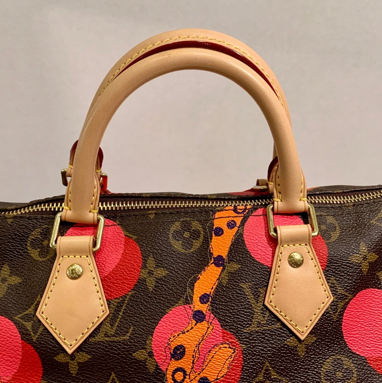 Louis Vuitton Limited Edition Speedy 30 Grenade Ramages Monogram Canvas Purse For Sale 3