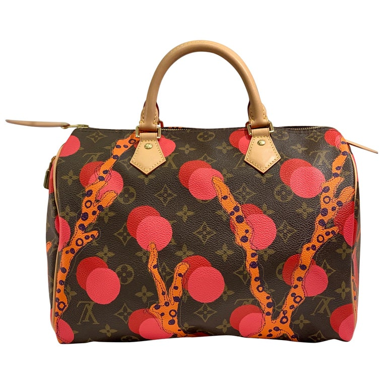 Louis Vuitton Limited Edition Speedy 30 Grenade Ramages Monogram Canvas Purse For Sale