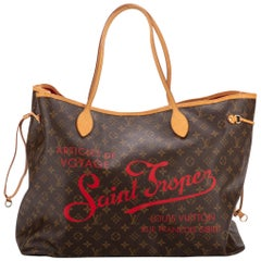 Louis Vuitton Limited Edition St Tropez Neverfull MM Tote Bag