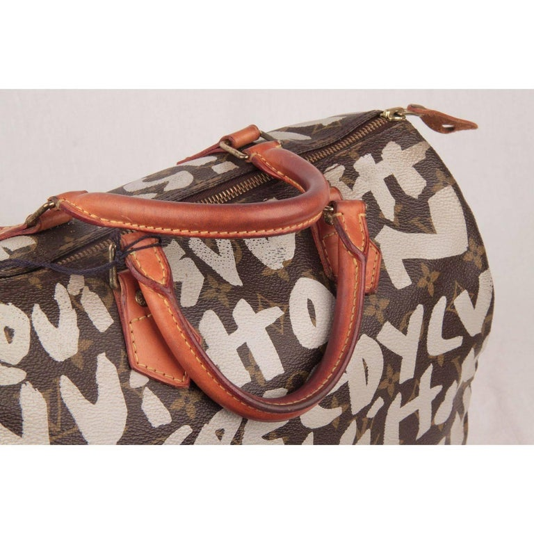 Louis Vuitton Limited Edition Stephen Sprouse Graffiti Speedy 30 Bag For Sale 5