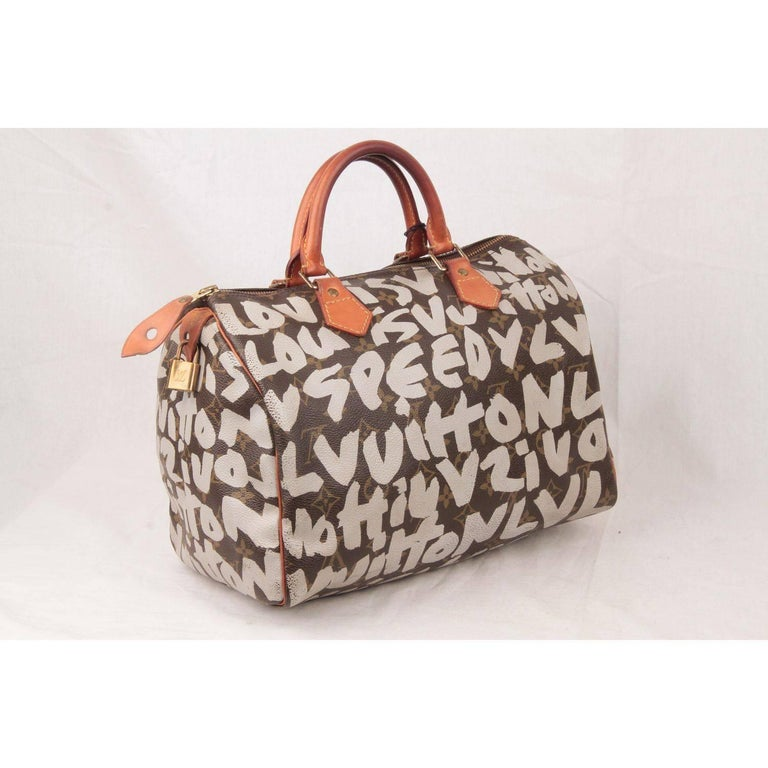 Louis Vuitton Limited Edition Stephen Sprouse Graffiti Speedy 30 Bag For Sale 2