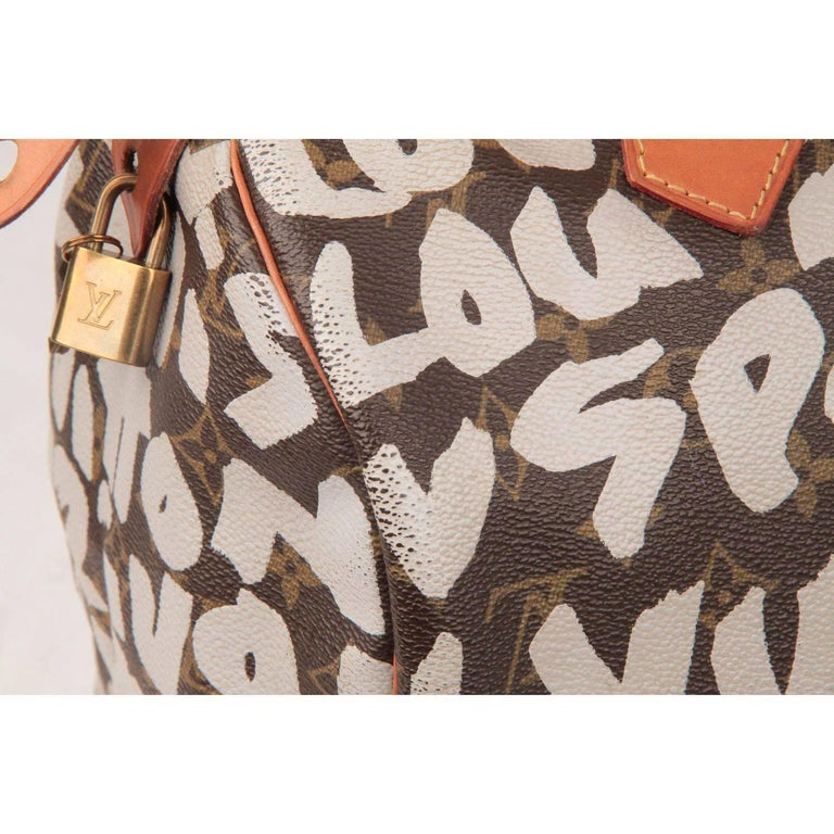 Louis Vuitton Limited Edition Stephen Sprouse Graffiti Speedy 30 Bag For Sale 3