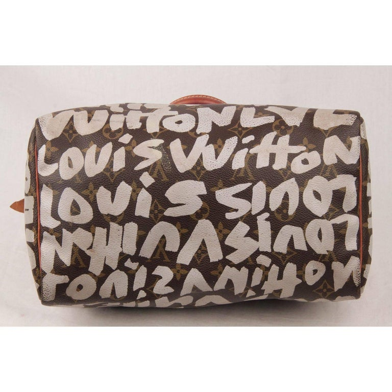 Louis Vuitton Limited Edition Stephen Sprouse Graffiti Speedy 30 Bag For Sale 4