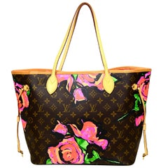Louis Vuitton Limited Edition Stephen Sprouse Monogram Roses Neverfull MM Tote