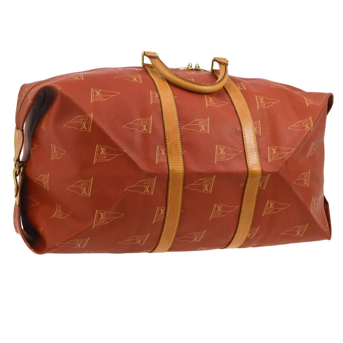Louis Vuitton Limited Edition Top Handle Mens Travel Weekender Duffle Tote Bag