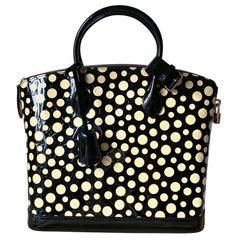 Louis Vuitton Limited Yayoi Kusama Dots Infinity Vernis Lockit MM Bag