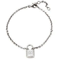 Louis Vuitton Lockit Silver Chain Link Bracelet