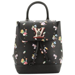 Louis Vuitton Lockme Backpack Floral Printed Leather Mini
