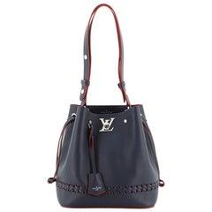 Louis Vuitton Lockme Bucket Bag Braided Leather