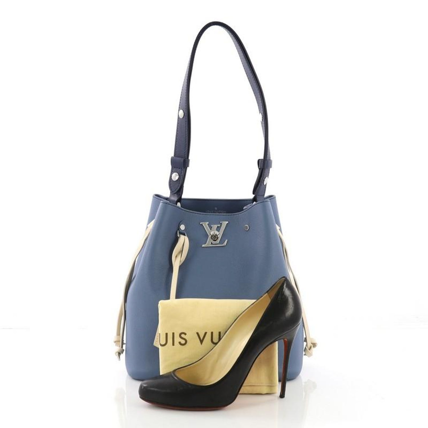 33dc51255 Louis Vuitton Lockme Bucket Bag Leather at 1stdibs
