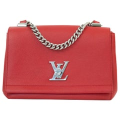 Louis Vuitton, Lockme in red leather
