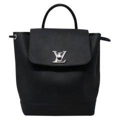 Louis Vuitton Lockme Noir Black Calfskin Backpack Purse