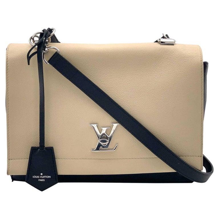 LOUIS VUITTON Lockme Shoulder bag in Beige Leather For Sale