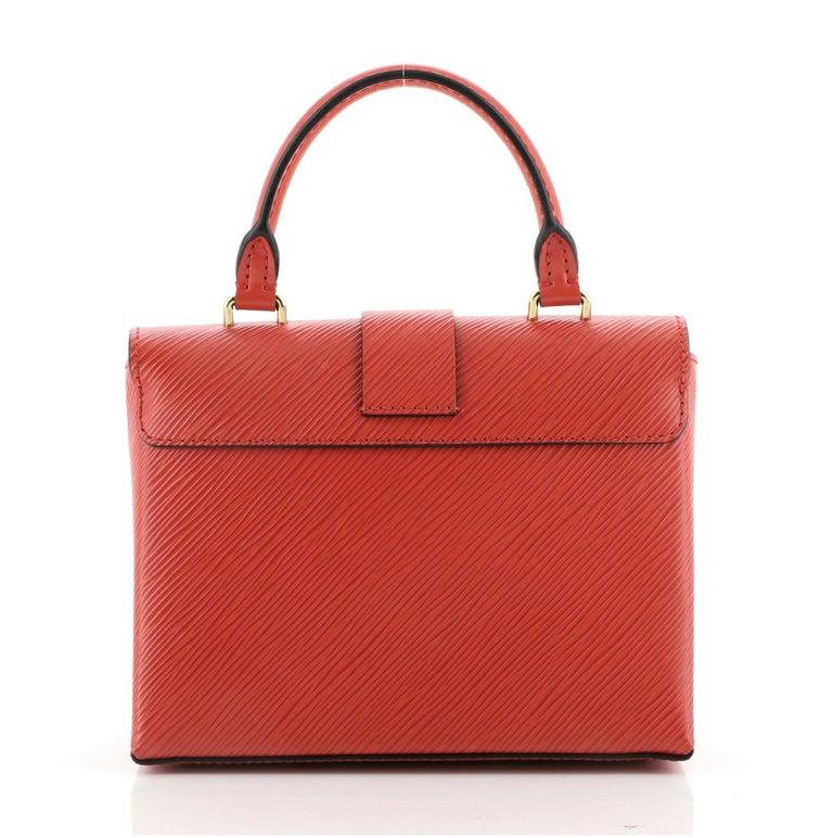 Red Louis Vuitton Locky Handbag Epi Leather BB For Sale