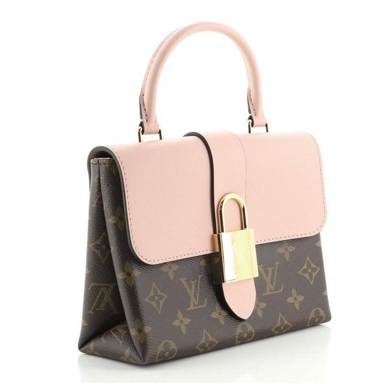 Beige Louis Vuitton Locky Handbag Monogram Canvas with Leather BB For Sale