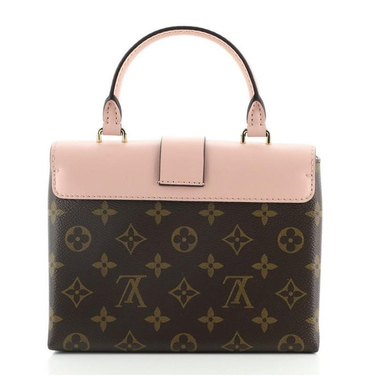 Louis Vuitton Locky Handbag Monogram Canvas with Leather BB In Good Condition For Sale In New York, NY
