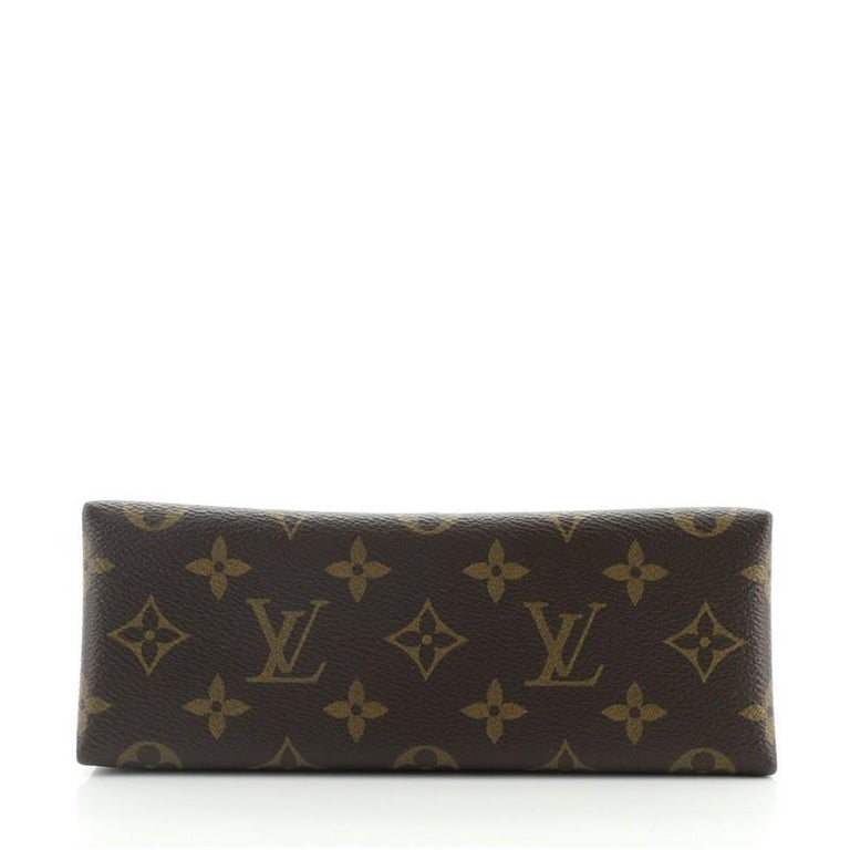Women's or Men's Louis Vuitton Locky Handbag Monogram Canvas with Leather BB For Sale