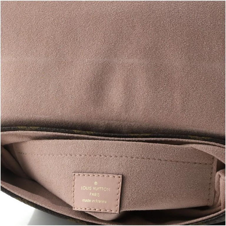 Louis Vuitton Locky Handbag Monogram Canvas with Leather BB For Sale 2