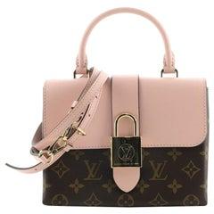 Louis Vuitton Locky Handbag Monogram Canvas with Leather BB