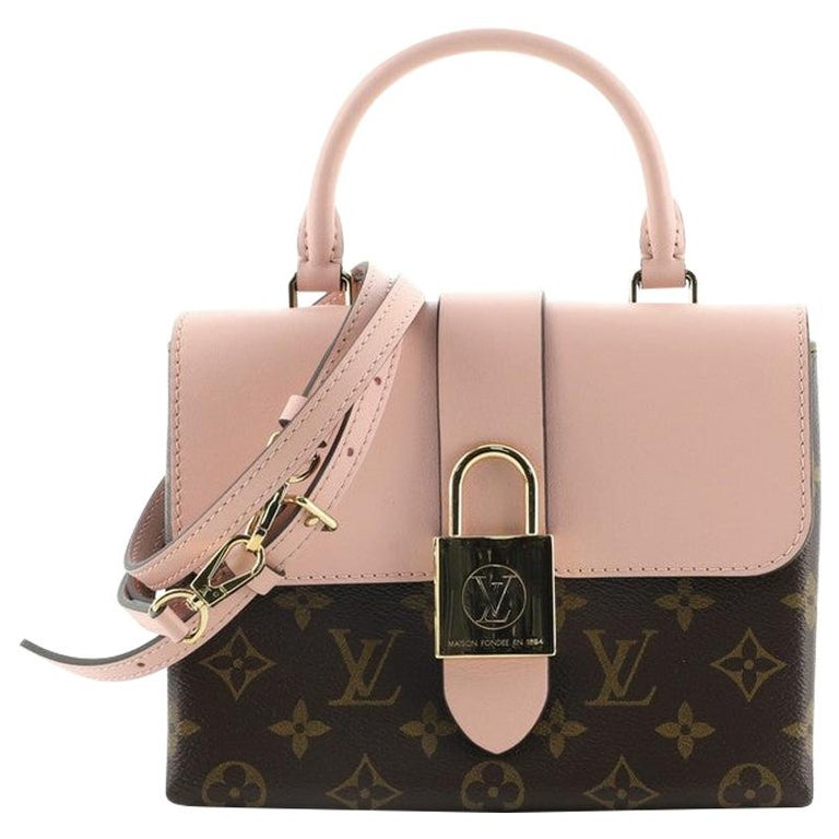 Louis Vuitton Locky Handbag Monogram Canvas with Leather BB For Sale