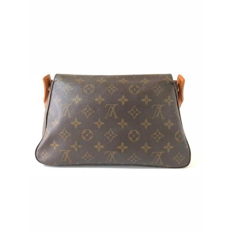 cd759996a942 Louis Vuitton Looping Monogram Mini Pm 232084 Brown Coated Canvas Shoulder  Bag For Sale 2