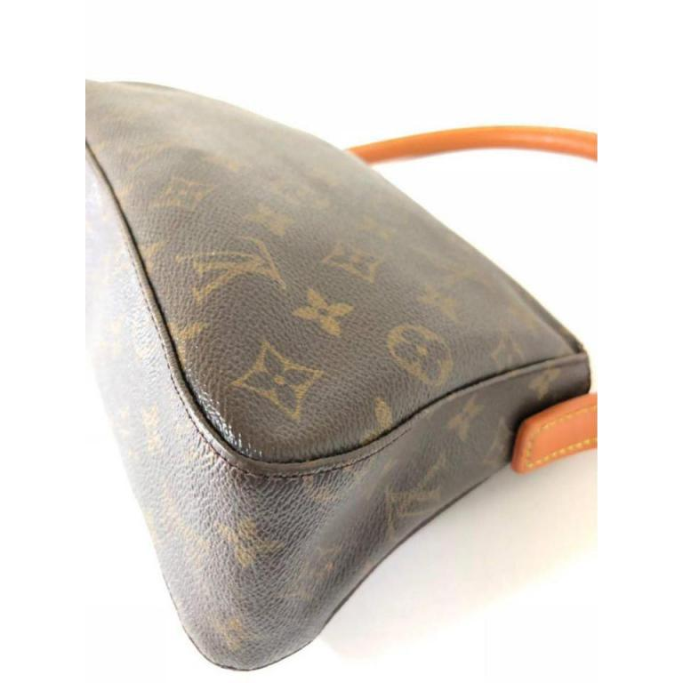 0cdeab41ac97 Louis Vuitton Looping Monogram Mini Pm 232084 Brown Coated Canvas Shoulder  Bag For Sale 4