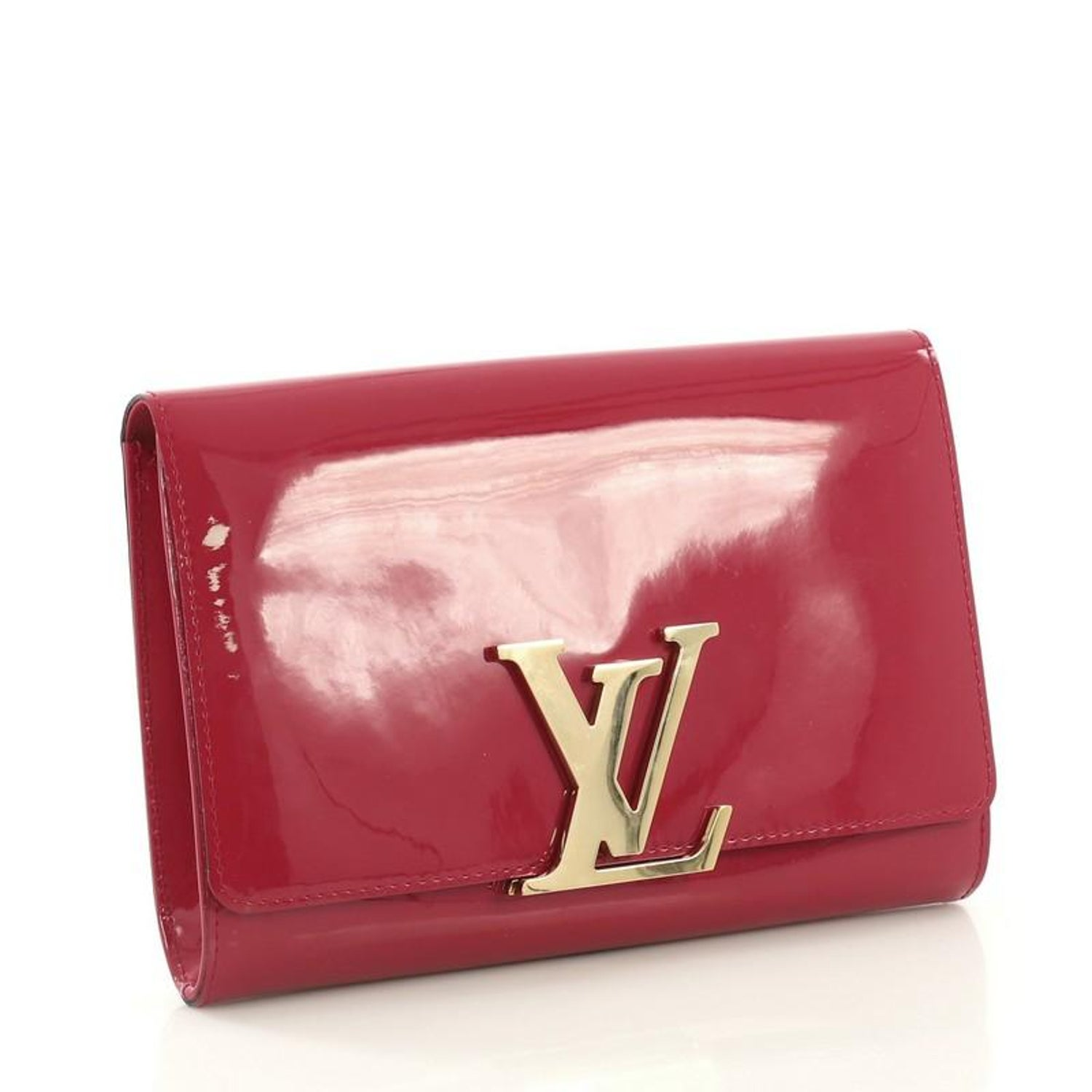 84f760499a78 Louis Vuitton Louise Clutch Patent MM at 1stdibs