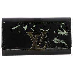 Louis Vuitton Louise Wallet Patent Long