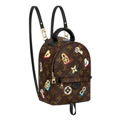 Louis Vuitton Love Lock Mini Palm Springs Coated Canvas Backpack