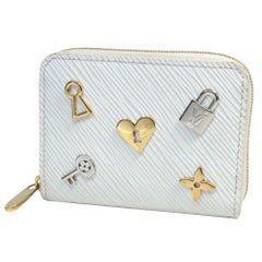 LOUIS VUITTON love lock Zippy coin purse unisex coin case M63994 blanc