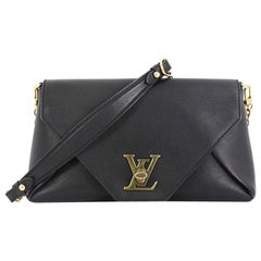 Louis Vuitton Love Note Chain Clutch Leather