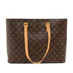 Louis Vuitton Luco Monogram Canvas Large Tote Shoulder Bag
