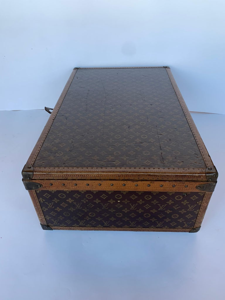 Leather Louis Vuitton Luggage Trunk For Sale