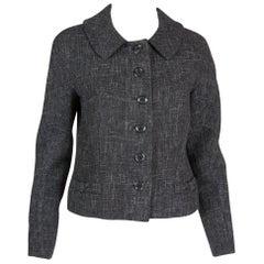 Louis Vuitton Lurex and Grey Wool Jacket