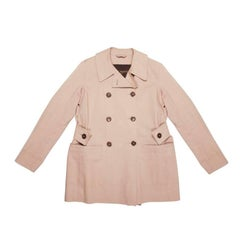 LOUIS VUITTON Mackintosh Raincoat in Beige Cotton Size 42