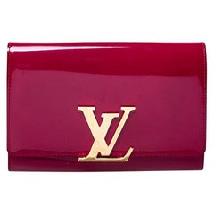 Louis Vuitton Magenta Vernis Leather Louise Clutch