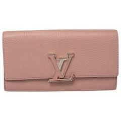 Louis Vuitton Magnolia Taurillon Leather Capucines Wallet