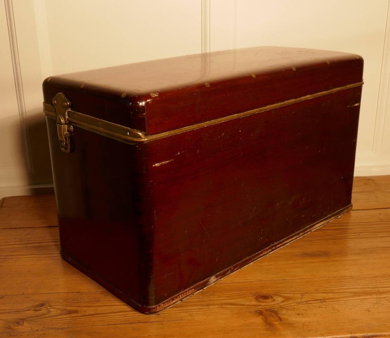 Industrial Louis Vuitton Mahogany Automobile Running Board Tool Box for a Vintage Car For Sale